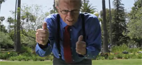 Larry King Doing the Dubstep Courtesy of Funny Or Die